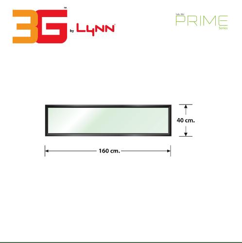3G หน้าต่างอะลูมิเนียม ช่องแสงติดตาย PS 160x40ซม. PRIME SERIES ดำ