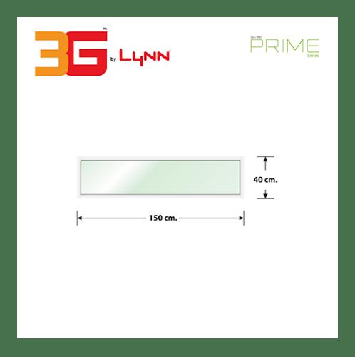 3G หน้าต่างอลูมิเนียมช่องแสงติดตาย (PS) 150x40ซม.  PRIME  สีขาว
