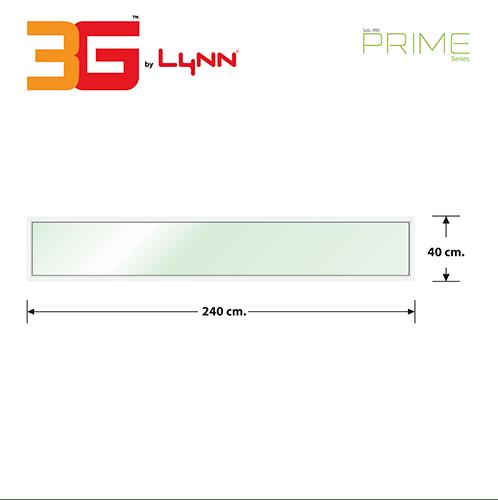 3G หน้าต่างอลูมิเนียมช่องแสงติดตาย240x40ซม.   (PS)  สีขาว