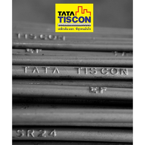 TATA TISCON เหล็กเส้นกลม  9 mm  SR24 มอก. สีดำ