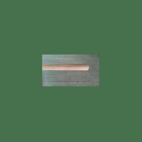 SJK ไม้สักกลึงกลม  ขนาด1.1/4นิ้วx8ฟุต