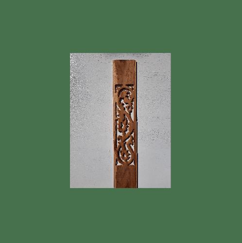 SJK ระเบียงขอบไม้สักลายใบไม้ ขนาด  6นิ้วx80ซม.