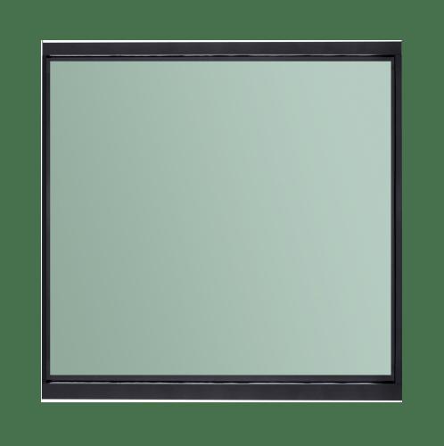 A-Plus  หน้าต่างอลูมิเนียมช่องแสงติดตาย 150x150ซม.  SAHARA สีดำ