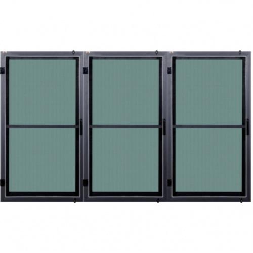 A-Plus หน้าต่างบานเปิดเดี่ยว (3 บาน เปิดขวา) ขนาด 0.60 m. x 1.50 m. สีเทาเข้ม SAHARA