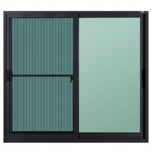 A-Plus  หน้าต่างบานเลื่อน ขนาด 1.30 m. x 1.30 m. มีมุ้ง SAHARA