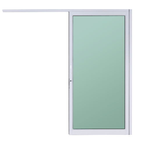 A-Plus ประตูบานแขวน  ขนาด 100x205 cm. A-DS/010 สีขาว