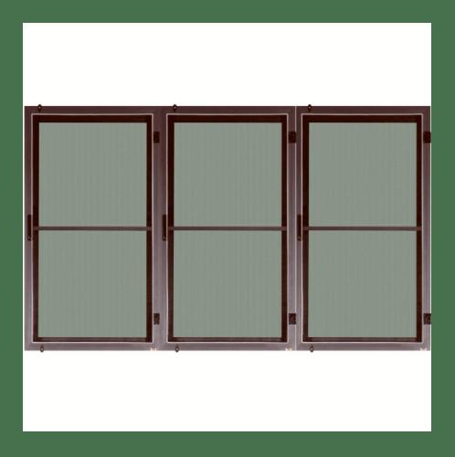 A-Plus  หน้าต่างบานเปิด (3บาน) พร้อมมุ้ง  ขนาด 60x150ซม. สีชา