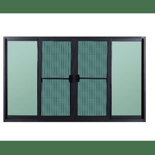 A-Plus หน้าต่างบานเลื่อนเปิดกลางพร้อมมุ้ง ขนาด 180x150ซม. SAHARA