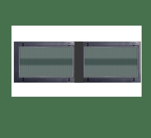 A-Plus ช่องลมหน้าต่างบานซ้อนคู่ SR-018 120x45ซม. สีซาฮาร่า พร้อมมุ้ง SAHARA เทาเข้ม