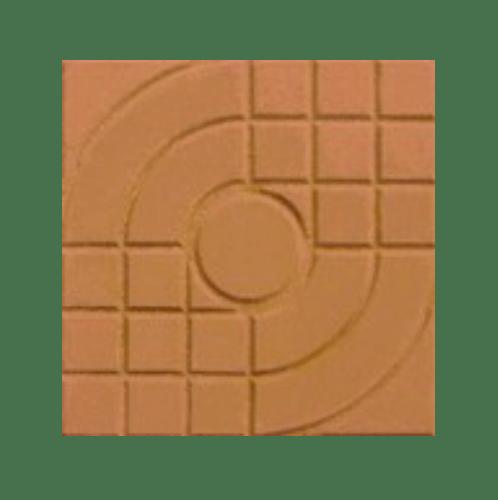 Dura ซีเมนต์ตกแต่งพื้น ขนาด 40x40x3.5 ลายสานเส้น  DuraOne Pavement ส้ม