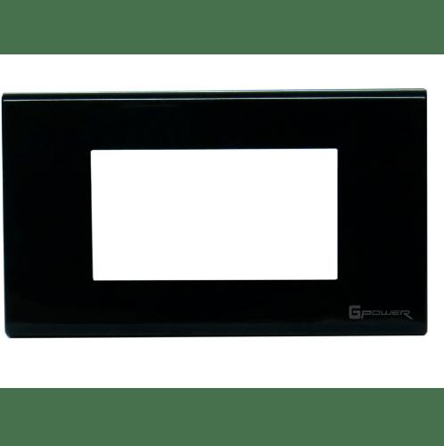 Gpower ฝาหน้ากากพลาสติก 3 ช่อง 2x4 A-103B สีดำ
