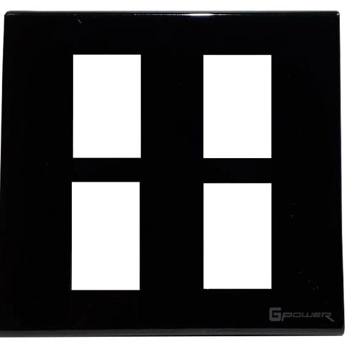 Gpower ฝาหน้ากากพลาสติก 4 ช่อง 4x4 A-104B สีดำ