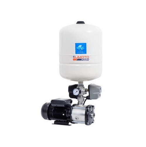 SUMOTO POMPA ปั๊มน้ำอัตโนมัติแรงดันคงที่แบบ Pressure Switch 750 วัตต์ MINI BOOST 306024 เงิน-ดำ