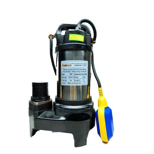 SUMOTO POMPA SUMOTO POMPA ปั๊มจุ่มน้ำสะอาด และน้ำเค็ม 400 วัตต์พร้อมลูกลอย , INOX400F INOX400F สีโครเมี่ยม