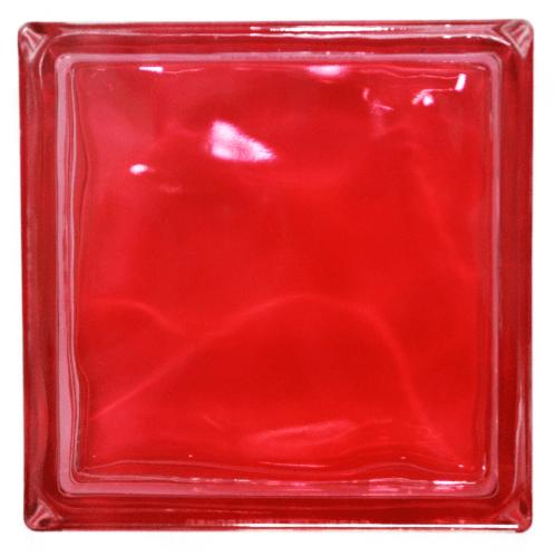 ช้างแก้ว บล็อกแก้วสี แก้วนภา   N-016/945  สีแดง