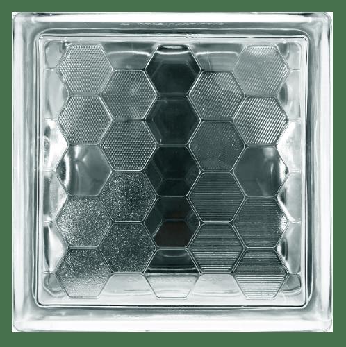 -  บล็อกแก้วใส แสงผึ้ง (190x190x80mm)  L-004 ไลท์บล็อก A.
