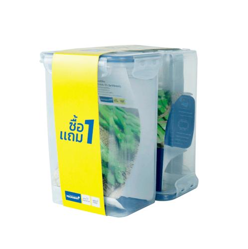 Superlock  กล่องอาหาร 1500 ml.  Pack 1GET1 สีขาว