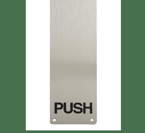HAFELE แผ่นเพลทสำหรับผลักประตู และตัวอักษร PUSH 987.11.340 สีสเตนเลสด้าน