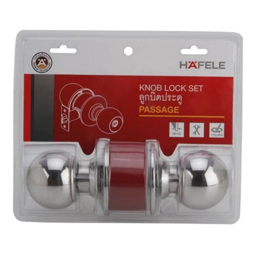 HAFELE ลูกบิดประตูทางผ่าน สีเงินเงา  SUS 304-489.93.121