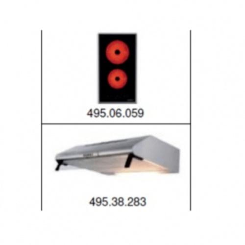 HAFELE ชุดเช็ทเครื่องดูดควัน+เตาไฟฟ้า SET 6 495.06.920