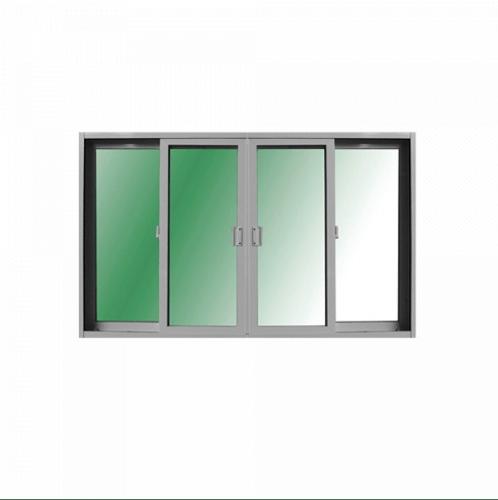 RKT หน้าต่างไวนิลบานเลื่อน 4 ช่อง ขนาด  180x110ซม.  ขาว