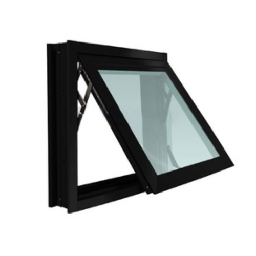 Wellingtan หน้าต่างไวนิลบานกระทุ้ง ขนาด 50cm.x80cm.   พร้อมมุ้ง สีดำ