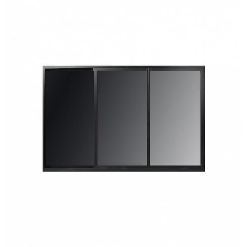 Wellingtan หน้าต่างไวนิลบานเลื่อน ขนาด  180cm.x110cm.  พร้อมมุ้ง  SFS WELL  สีดำ