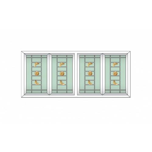 RKT ประตูบานเลื่อนเหล็กดัด กระจก 2ชั้น สีเขียวใส ขนาด240x205 ซม.   Rakangthong  สีขาว