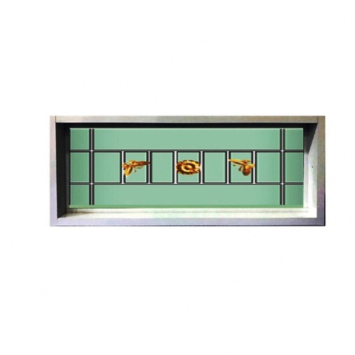 RKT หน้าต่างไวนิลช่องแสงบานปิดตาย กระจก 2ชั้น พร้อมเหล็กดัด WDI ขนาด 130x120cm. สีขาว