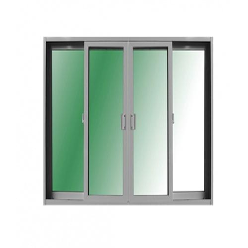RKT ประตูไวนิลบานเลื่อน SSSS 4ช่องพร้อมช่องแสง  ขนาด320x230ซม.  สีขาว