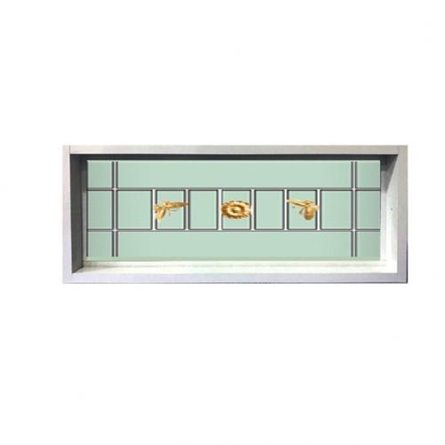 RKT ช่องแสงบานตายกระจกสองชั้นเหล็กดัด WDIA 45*360 สีขาว