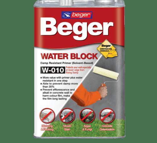 BEGER น้ำยาทากันความชื้น  (สูตรน้ำมัน) 1 กล. WaterBlock  W-010  ใส