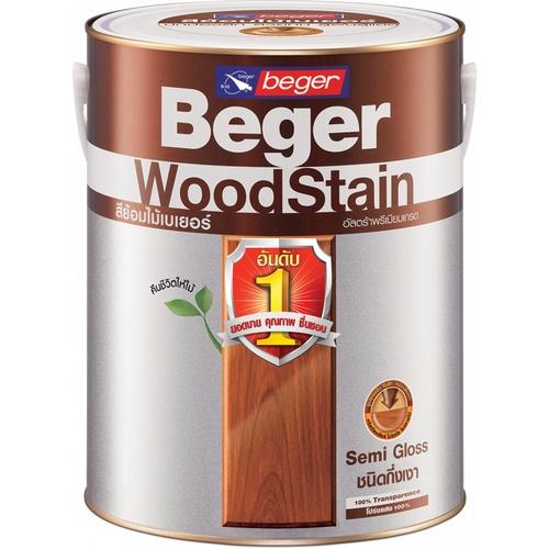 Beger สีย้อมไม้ชนิดกึ่งเงา วูดสเตน  S-2902 (PREMIUM TEAK/สีไม้สักห้าดาว) กล.