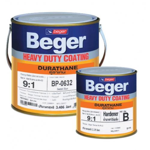 Beger สีทาทับหน้าภายนอก  BP-0745 ดูราเทน (Ocean Blue) ชุด กล.