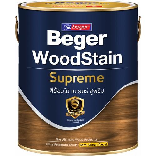 BEGER สีย้อมไม้ ซูพรีม ชนิดกึ่งเงา 1 กล. S-9201 (Teak/สีไม้สัก)