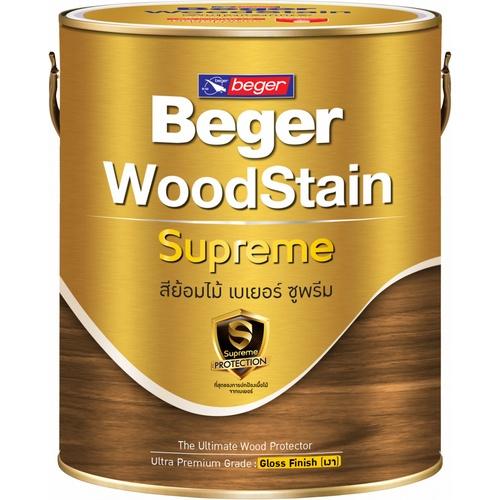 BEGER สีย้อมไม้เบเยอร์ ซูพรีม ชนิดเงา ขนาด 1 กล. G-9103 (Walnut/สีไม้วอลนัท)
