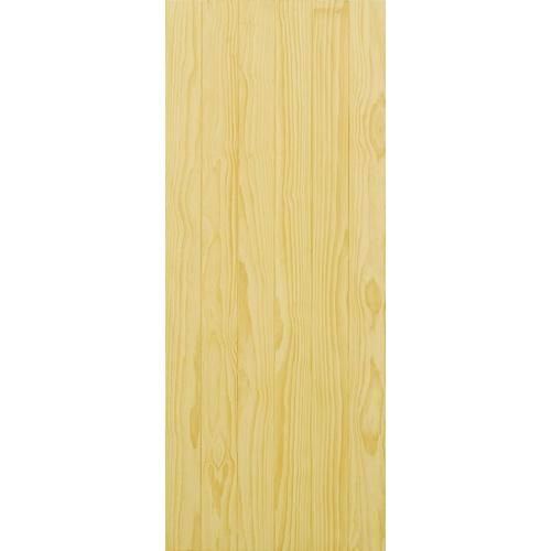 D2D ประตูไม้สนนิวซีแลนด์ บานทึบทำร่อง ขนาด 80x200cm.  D2D-503