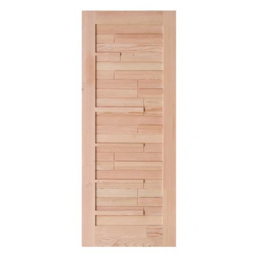 D2D ประตูไม้ดักลาสเฟอร์ เซาะร่อง ขนาด 80x200ซม. Eco Pine-034