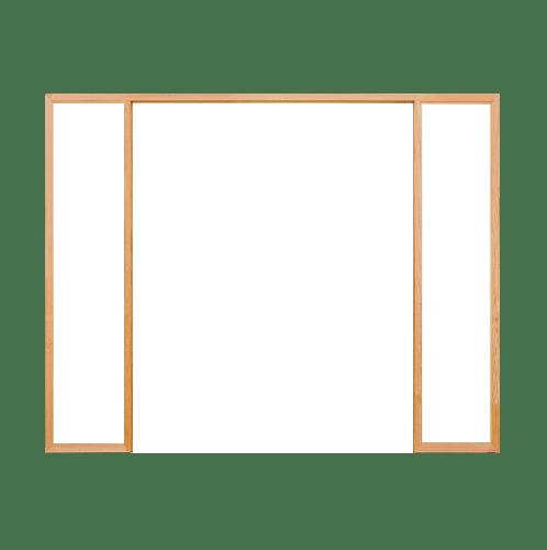 D2D วงกบประตูไม้ดักลาสเฟอร์ ขนาด 160x200 cm. FJ (COM.3)