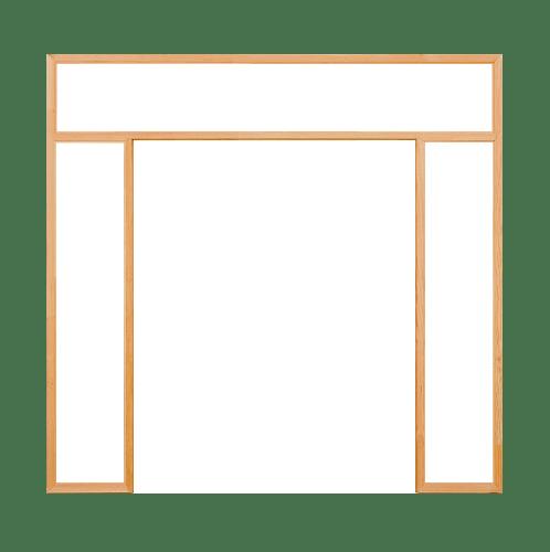 D2D วงกบประตูดักลาสเฟอร์ ขนาด160x200 cm.   FJ (COM.5)