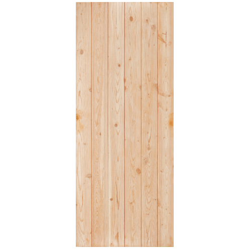D2D ประตูไม้ดักลาสเฟอร์ บานทึบเรียบ ขนาด 100x220ซม. Eco Pine -88