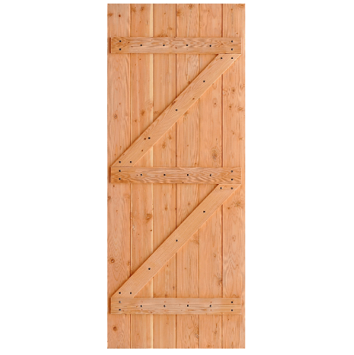 D2D ประตูไม้ดักลาสเฟอร์ บานทีบเซาะร่อง ขนาด 70x220ซม. Eco Pine-99