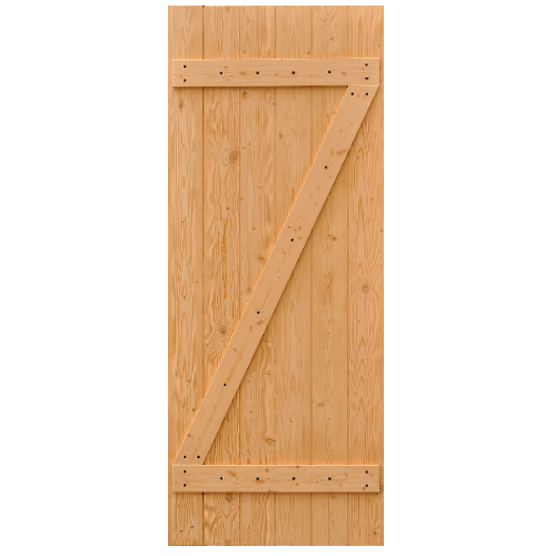 D2D ประตูไม้ดักลาสเฟอร์ บานทึบทำร่อง ขนาด 90x200ซม. Eco Pine-55