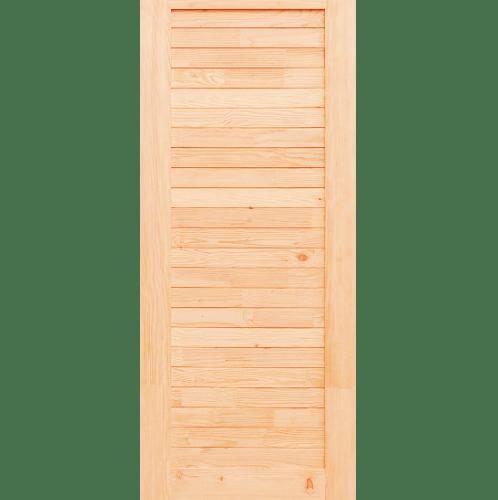 D2D ประตูไม้สนแดงแคนาดา บานทึบทำร่อง ขนาด  90x200cm. Eco Ezero-3