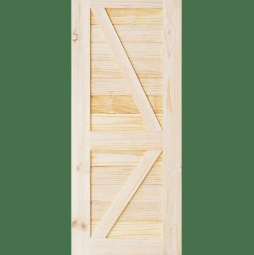 D2D ประตูไม้สนนิวซีแลนด์ บานทึบเซาะร่อง(โรงนา) ขนาด 100x220ซม.  Eco Pine-444