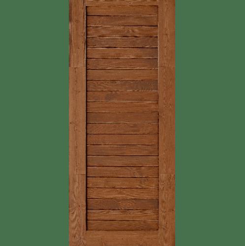 D2D  ประตูไม้ดักลาสเฟอร์เบรินแอช บานทึบทำร่อง ขนาด  90x200ซม.  Eco Ezero-3 เบรินแอช
