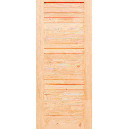 D2D ประตูไม้ดักลาสเฟอร์ บานทึบทำร่อง ขนาด 80x200ซม Eco Ezero3
