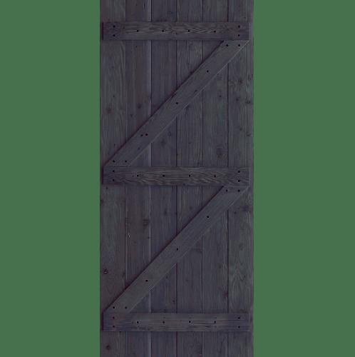 D2D ประตูไม้ดักลาสเฟอร์ บานทีบเซาะร่อง(โรงนา) ขนาด 106x200ซม.  Eco Pine-99 ไม้ธรรมชาติ