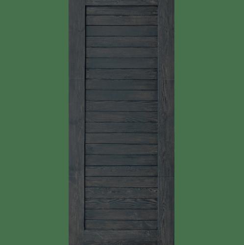 D2D  ประตูไม้ดักลาสเฟอร์ บานทึบทำร่อง ขนาด 70x200ซม.  ECO EZERO-3 สีแบล็คแอช ดำ