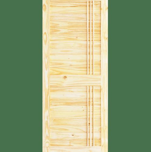D2D  ประตูไม้สนNz บานทึบเซาะร่อง ขนาด 80x180ซม.  Eco Pine-Ezero 27 ไม้ธรรมชาติ